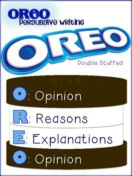 oreo template for persuasive writing the world s catalog of ideas