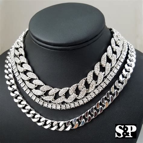 "Hip Hop Quavo's Choker 18"" Cuban & 16"" Full Iced Cuban & 1"