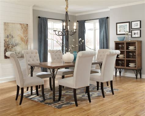 Dining Room Table Chairs d530 25 ashley furniture tripton rectangular dining room