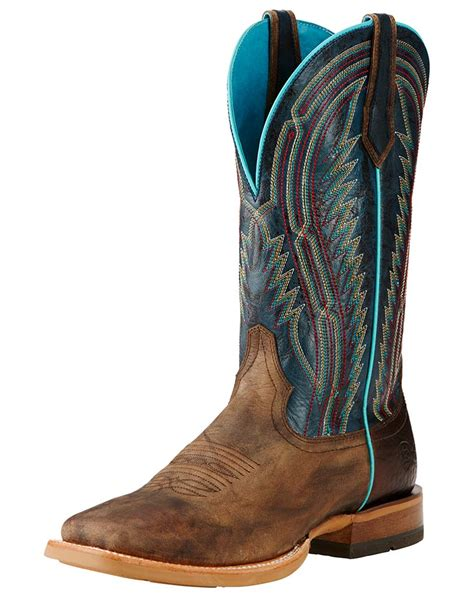 ariat s chute 13 quot square toe boots brown blue