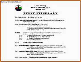 event itinerary template 9 event itinerary template nypd resume