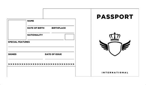 Passport Templates For Teachers by 1000 Ideas About Passport Template On Road