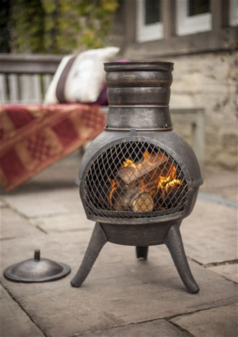 Chimenea Fuel Cast Iron Chiminea Patio Heater Bbq Pit Chimenea