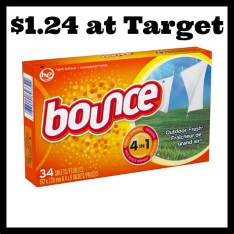 printable bounce fabric softener coupons target bounce dryer sheets only 1 24 deal mama