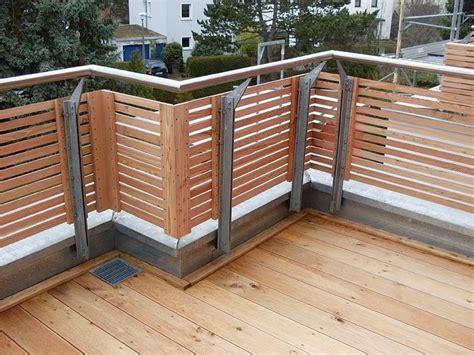 geländer draußen verkleidung design balkon