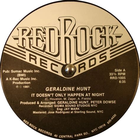 Design Record Label | record label design red rock records label