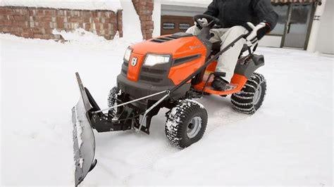 husqvarna tractors   attach snow blade youtube