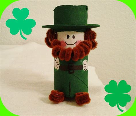 st s day crafts cutest paper roll leprechaun