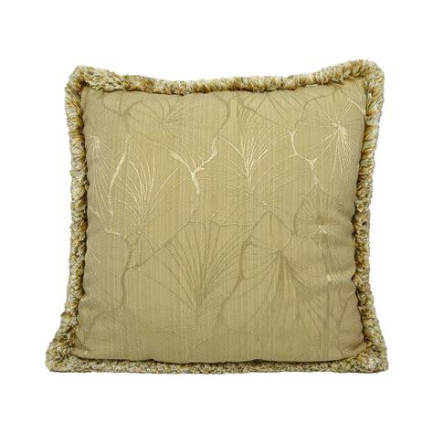 federa cuscino federa cuscino foglie jacquard con spazzolino tina