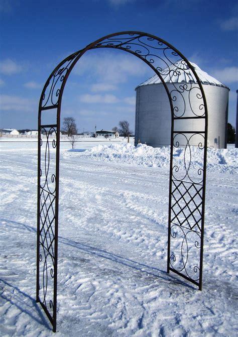 Metal Garden Arch Trellis Wrought Iron Scroll Arbor Garden Arch