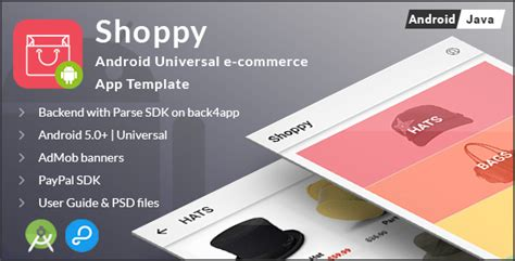 Shoppy Android Universal Ecommerce App Template Ecommerce Bests Android App Privacy Policy Template