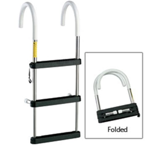 boat ladder portable garelick telescoping stainless steel hook ladders west