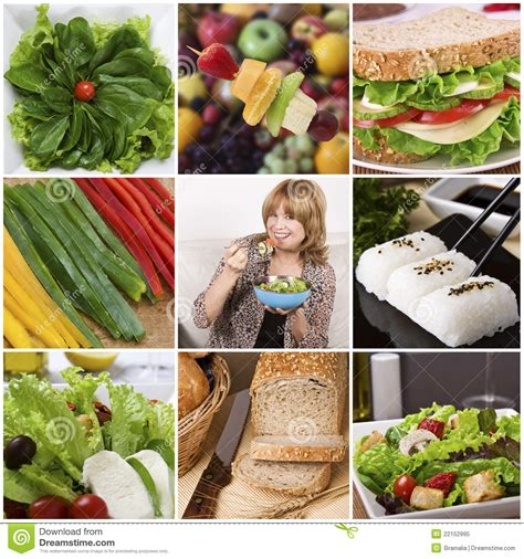 Healthy Food Collage Royalty Free Stock Photo Image Healthy Food Collage