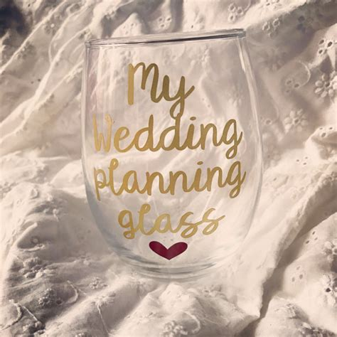 Wedding Planner Gifts by Wedding Planning Glass Engagement Gift Engagement Gifts For