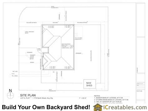 Draw Shed Plans Online