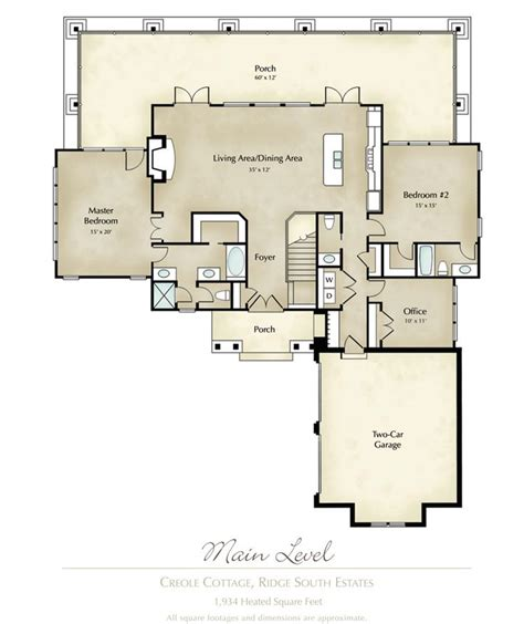 mitch ginn lake house plan for lands at lake martin quot creole cottage quot floor plan www