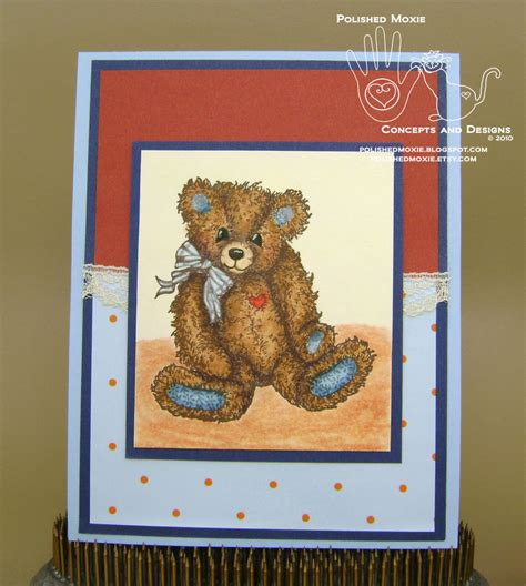 Handmade Teddy Cards - handmade lace embellished teddy card the aftermath