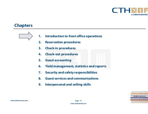 Check In Procedure In Front Desk by Front Office Operations