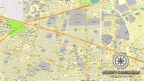 san jose printable map san jose california us printable vector city plan