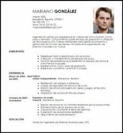 Plantilla Curriculum Tecnico De Sonido Modelo Curriculum Vitae Ingeniero En Sonido Livecareer