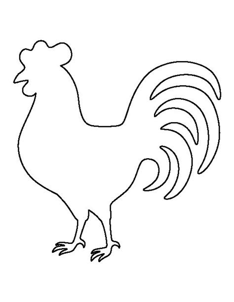 printable hen images rooster pattern use the printable outline for crafts