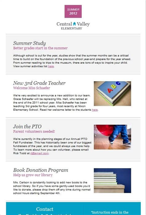 educational newsletter templates 92 best images about email templates from constant contact