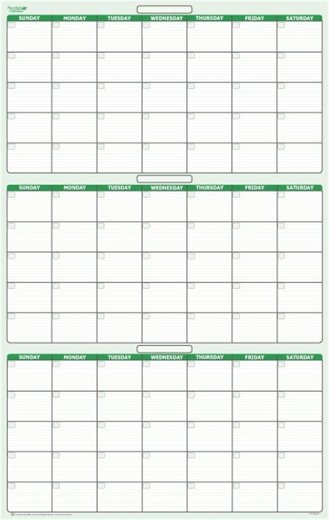Calendar 90 Days 90 Day 3 Month Erasable Wall Calendar 24 Quot X 38 Quot