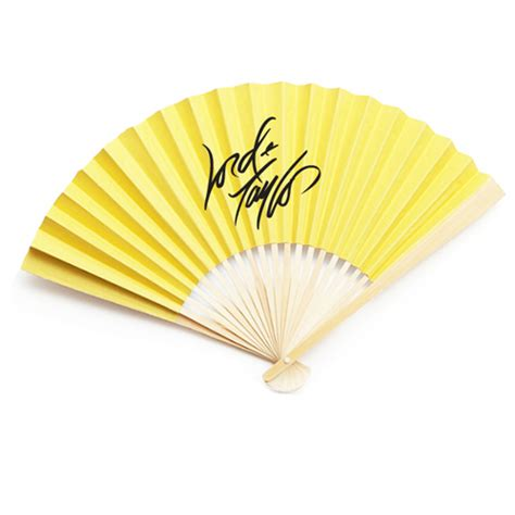 personalized paper fans corporate logo personalized solid color paper fans