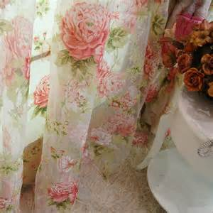 cottage style curtains 2 x custom made country cottage floral sheer