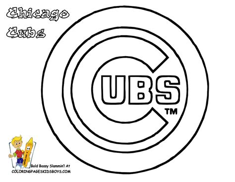 Chicago Cubs Coloring Pages grand baseball coloring pictures mlb baseball nl free