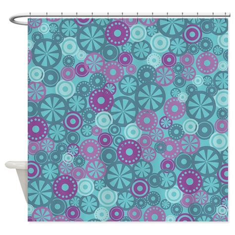 Blue And Purple Shower Curtain by Flower Dot Layer Blue Purple Shower Curtain By Admin Cp45405617