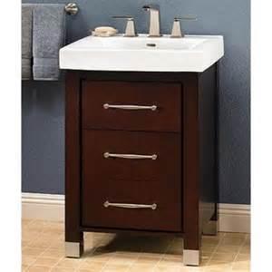 midtown 24 quot modern single sink bathroom vanity espresso