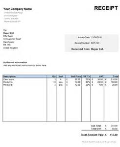 receipts template free uk receipt template
