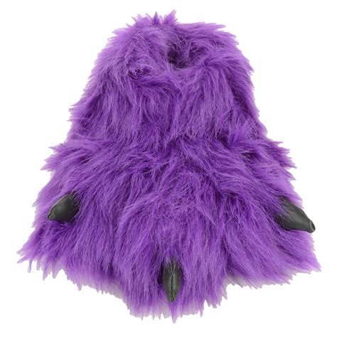monster house shoes girls purple novelty padded faux fur fluffy funky funny monster feet slippers ebay
