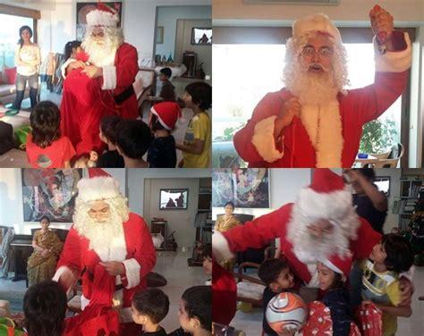 Baju Kostum Natal Santa Clause Dewasa Lengkap Merah Hijau Set Ikut Rayakan Natal Aamir Khan Berubah Jadi Santa Claus Unyu