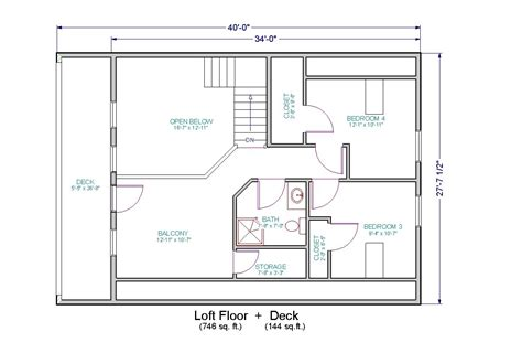 Loft House Floor Plans | simple small house floor plans small house floor plans