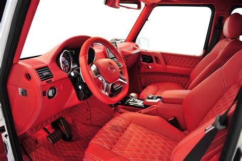 mercedes g wagon red interior white brabus g wagon has flamboyant written all over it