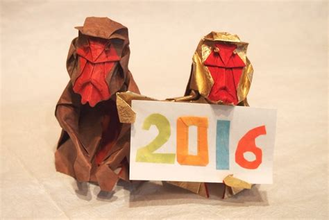 new year monkey origami celebrate new year with these origami monkeys