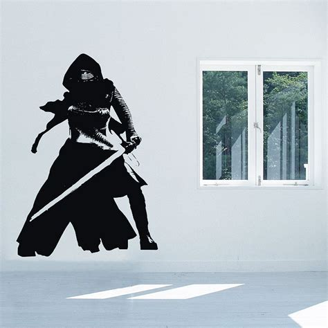 wars wall sticker kylo ren wars vinyl wall decal
