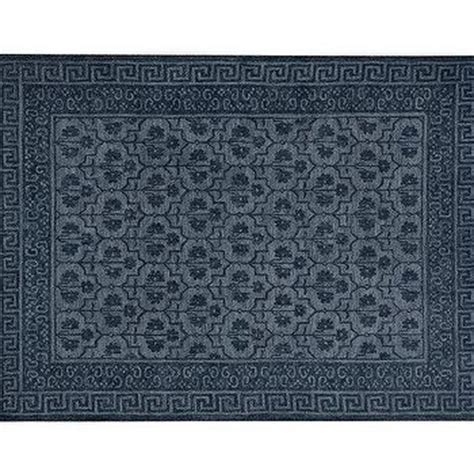 blue key rug ivory key border blue woven rug
