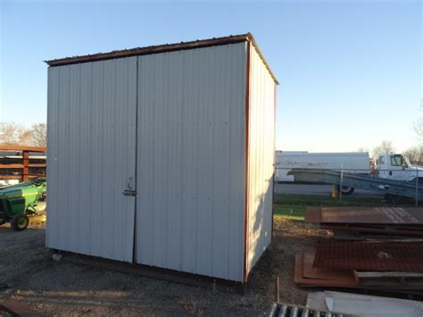 Storage Shed Auctions by Steel Storage Shed K C Auctions Rogers Port A Weld