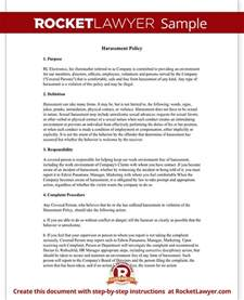 sexual harassment letter template workplace company harassment policy template with sle