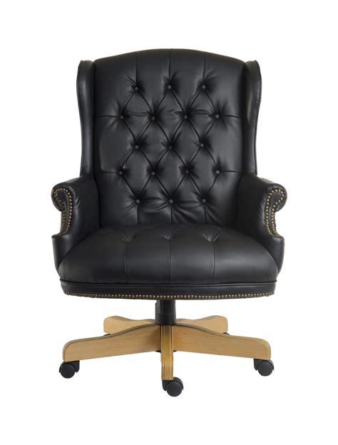 chairman noir leather executive chair b6927 121 office