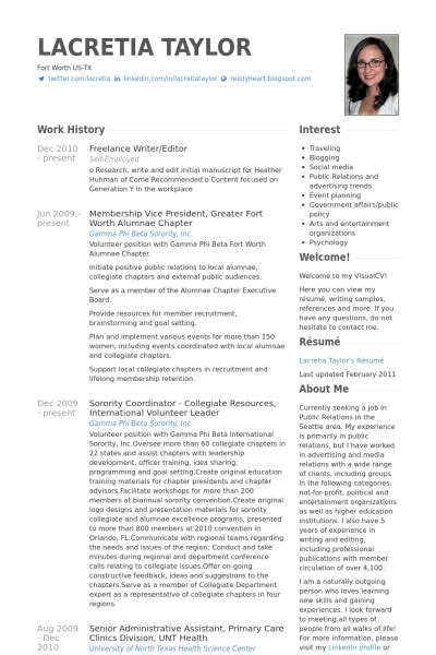 freelance writer editor resume exle resume