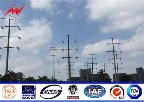 aws electrical ngcp 8 sides 50ft steel utility pole for 69kv electrical