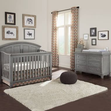Westwood Design Jonesport Convertible Crib Westwood Design Jonesport 2 Nursery Set Convertible Crib And 6 Drawer Dresser In Cloud