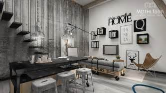 Studio Apartment Furniture Ideas 2 industrial apartment interior design that will inspiring