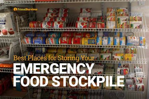 best places for storing your emergency food stockpile