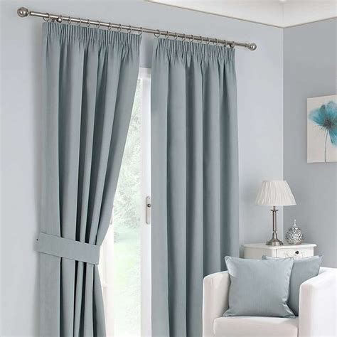 blackout pleated curtains duck egg solar blackout pencil pleat curtain collection