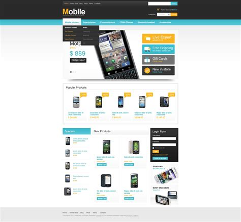 mobile store virtuemart template 33538